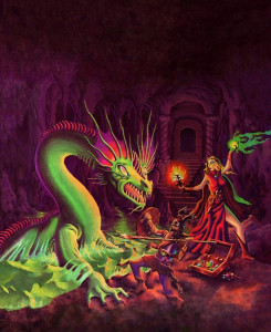Erol Otus' cover for TSR Basic Dungeons & Dragons Ruleset 2nd edition