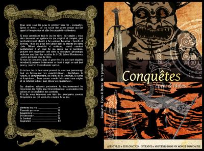 Conquêtes, épées & idoles RPG. Fullcover for tome I